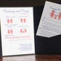 Courtney & Corey Cute Invitation