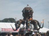 May 17, 2014. Why yes, that IS a giant flaming steampunk octopus.