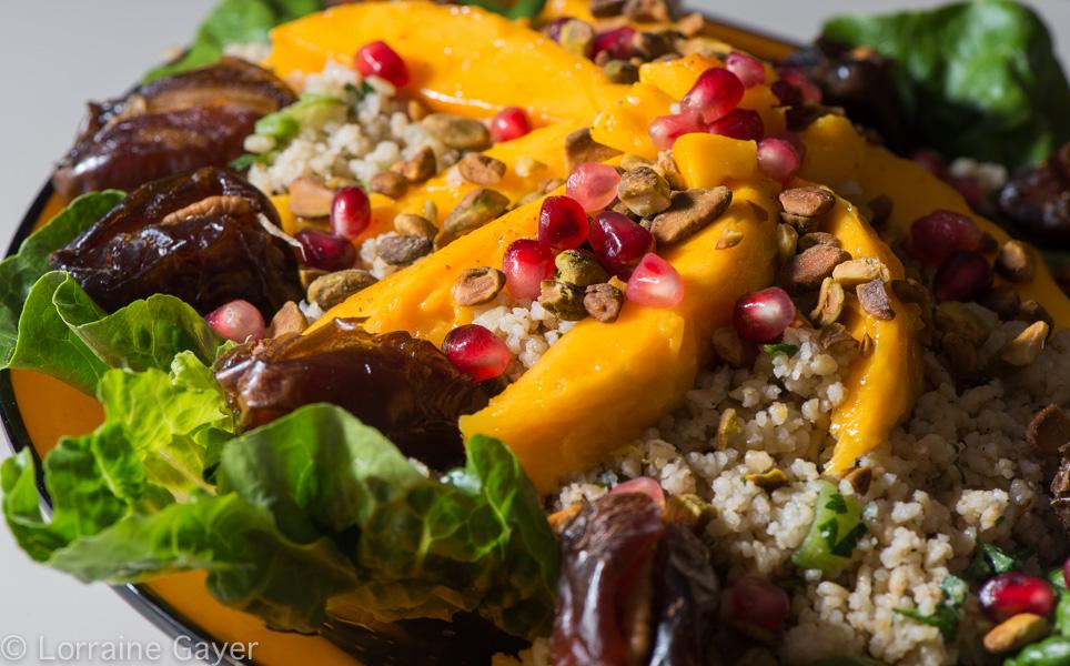 Bulgur Salad with Mangoes and Pistachios