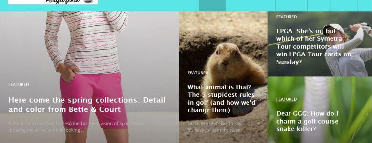 Image of GottaGoGolf.com homepage