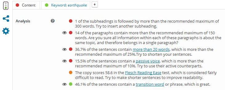 Image of good writing SEO rating