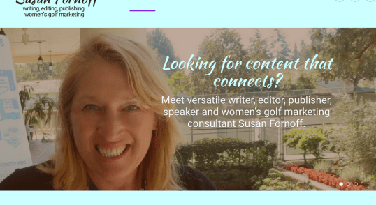 Image of SusanFornoff.com home page