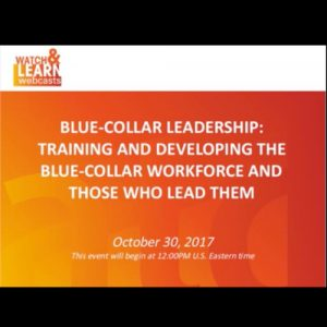 Blue-Collar Leadership Webinar featured by ATD