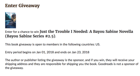 JUST THE TROUBLE Giveaway - Click to Enter