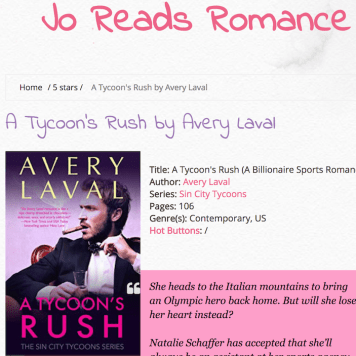 Feb. 2018: Review of Laval's A TYCOON'S RUSH