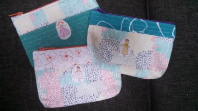 Zipper pouches for littles