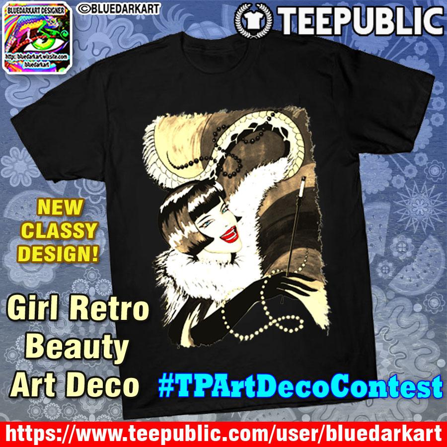 girl retro beauty art deco tpartdecocontest by bluedarkart rh bluedarkart wordpress com