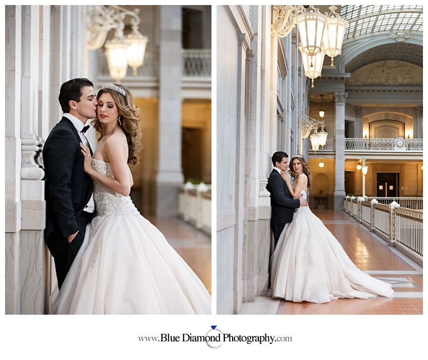 Hartford City Hall Wedding Glam Styled Shoot Blue