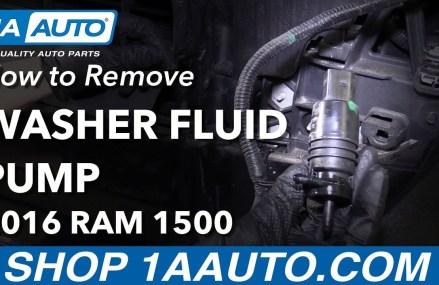 How to Remove Replace Washer Fluid Pump 2016 Ram 1500 San Antonio Texas 2018