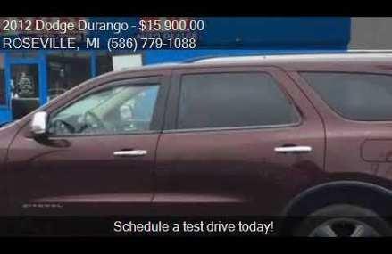 2012 Dodge Durango Citadel AWD 4dr SUV for sale in ROSEVILLE Rockford Illinois 2018