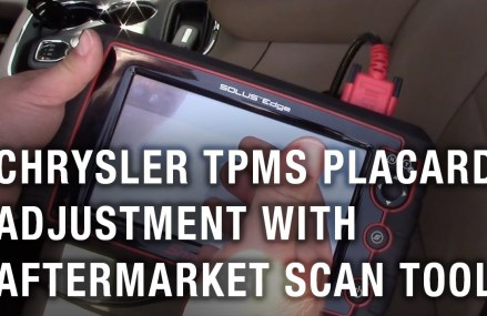 Chrysler TPMS Placard Adjustment With Aftermarket Scan Tool Cary town North Carolina 2018