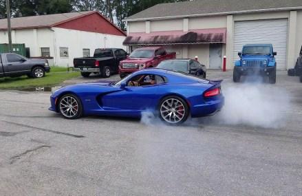 Dodge Viper Burnout in Whittemore Speedway, Whittemore, Michigan 2018