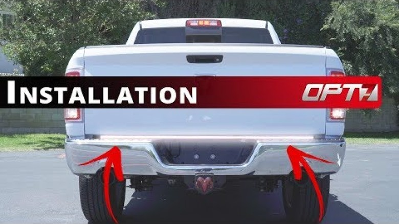 Redline Triple LED Tailgate Install by OPT 7 (2018 Dodge Ram ... on