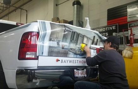 Wrapping a Dodge Ram Tailgate in 30 Seconds Area Near 48094 Washington MI