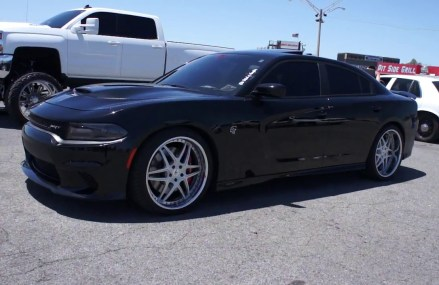 Hellcat Dodge Charger on Amani Forged Wheels at Trackmania 2k18 at 76621 Abbott TX