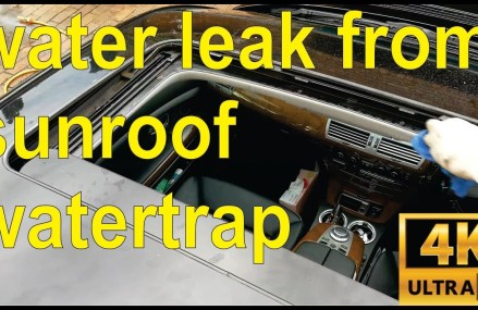 How to fix a sunroof water leak  in your BMW (full details) – step by step Near Mallard 50562 IA