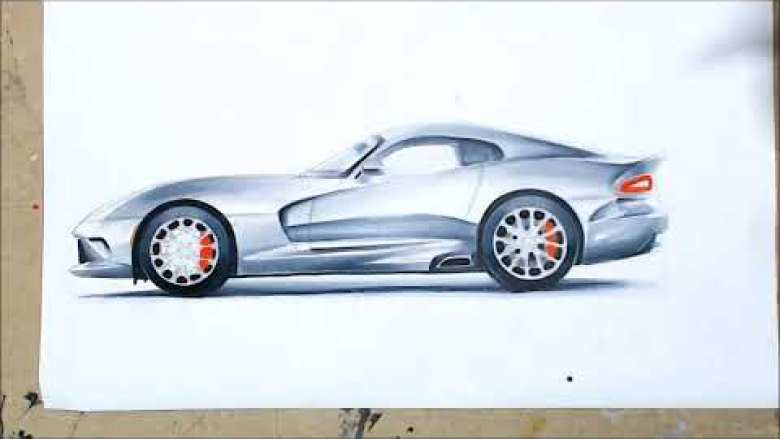 Dodge Viper Drawing, New Hampshire Motor Speedway, Loudon, New Hampshire