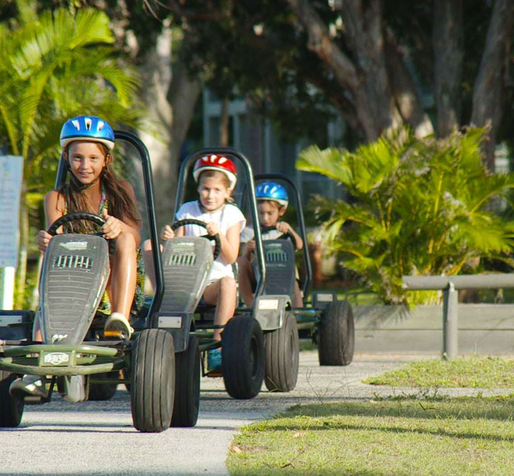 Onsite Go Karts for hire so the kids can explore on wheels