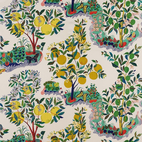 Schumacher Citrus Garden Print