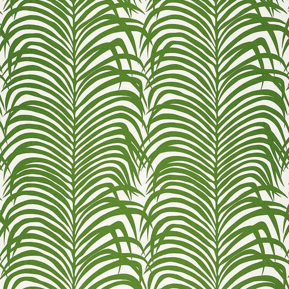 Schumacher - Zebra Palm Linen Print