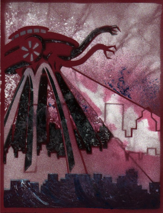 Spray-Paint Illustration - McWallyWar of the Worlds