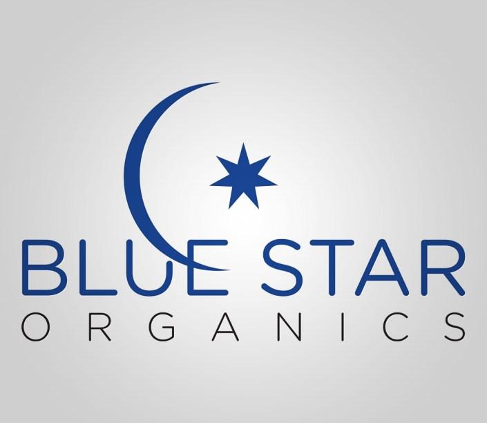 Logo Design for Blue Star Organics, Asheville NC
