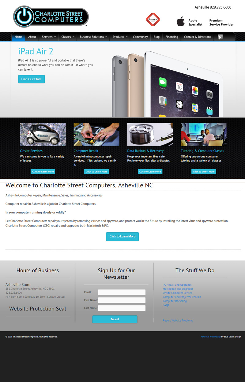 Web Design for Charlotte Street Computers