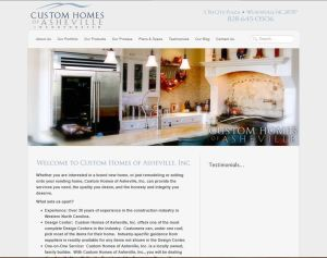Website Design in Asheville, NC for Custom Homes of Asheville