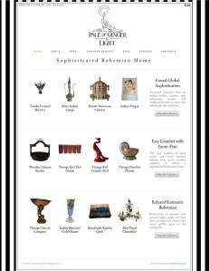 Website Design for Isle of Ginger and Light