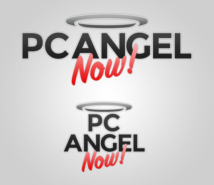 PC Angel Now Logo Design