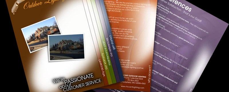 Accent Home Lighting Brochure Design
