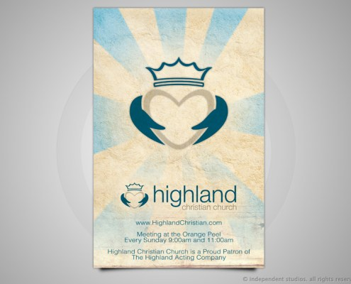 Highland Christian Ad Design