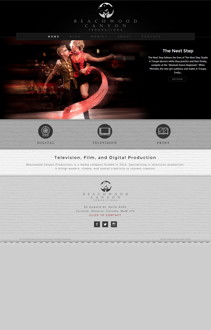 WordPress Design & Development for Beachwood Canyon Productions