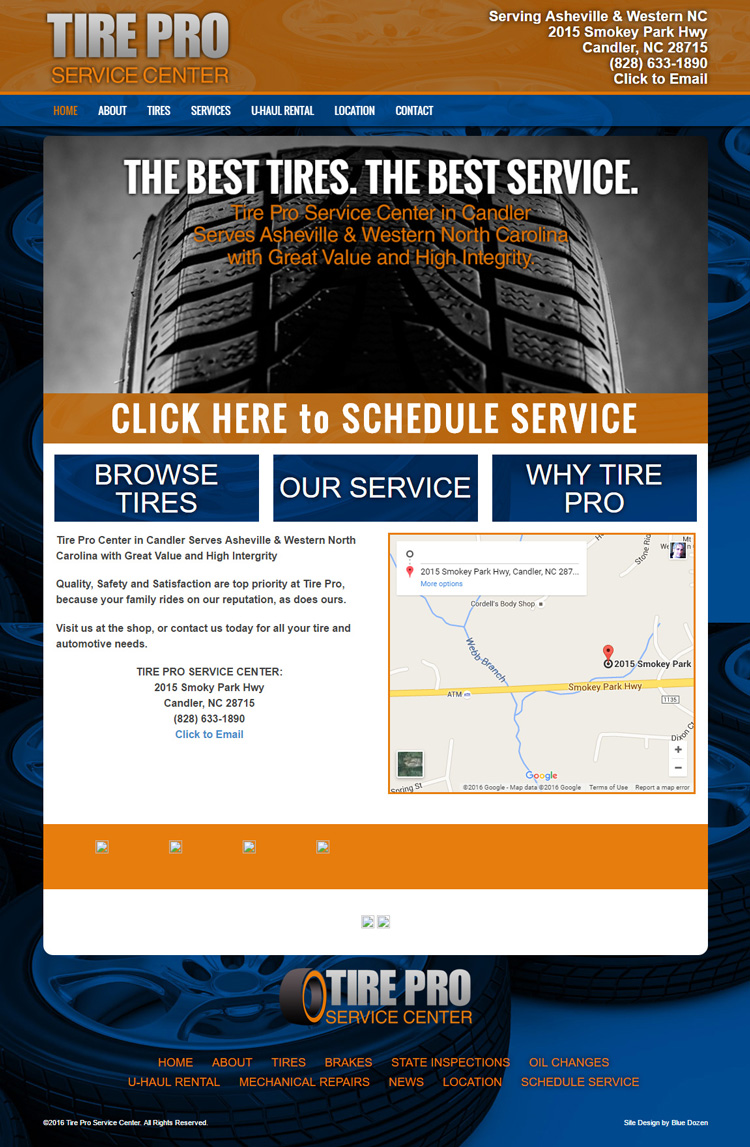Web Design for Tire Pro