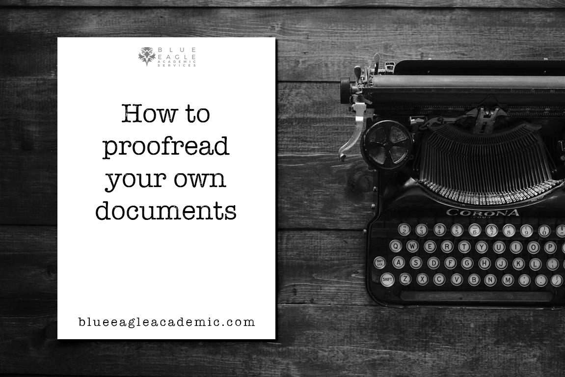 How to proofread your own documents