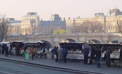 562125-Paris Booksellers Stalls Along the Seine