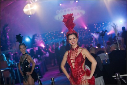 Showgirls at an event