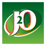 A logo of the J2O drinks company