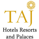 A logo of the Taj Group Hotels