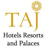 A logo of the Taj Group Hotels