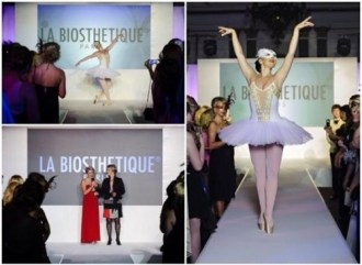 Ballerina performing at La Biosthetique Paris Hair show awards
