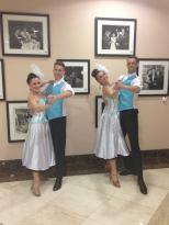 Dancers performing a ballroom dance show