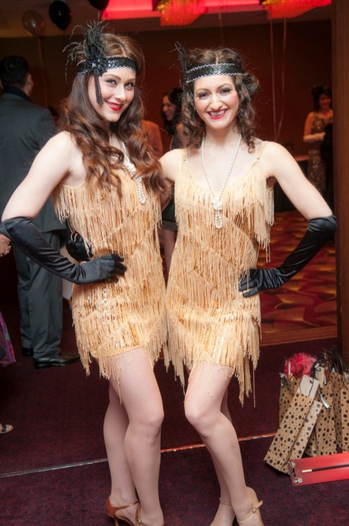 Great Gatsby dancers at an event
