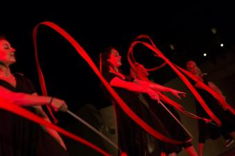 Dancers with ribbons