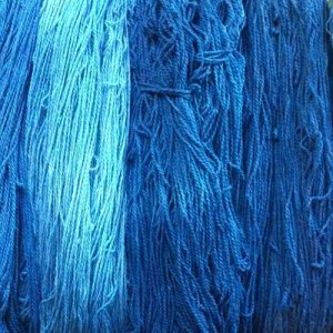 yarn dyed with indigo