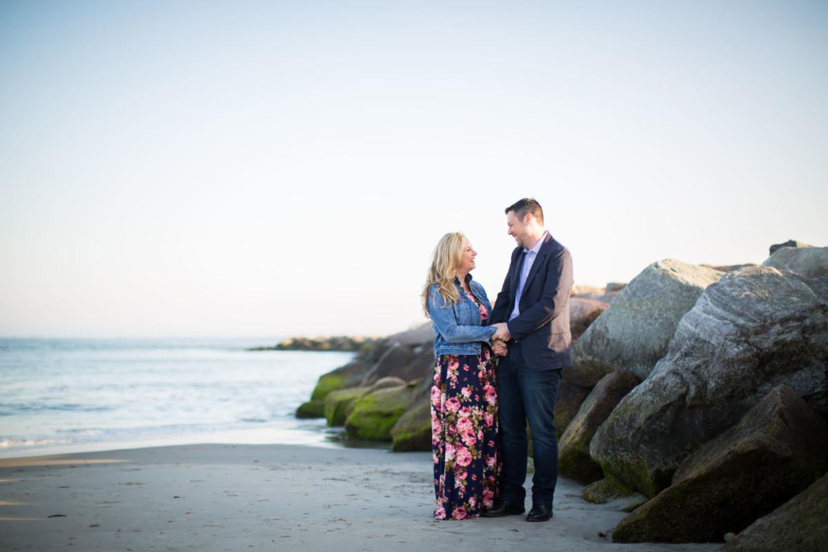 Jen and Mark   Narragansett Engagement  Blueflash