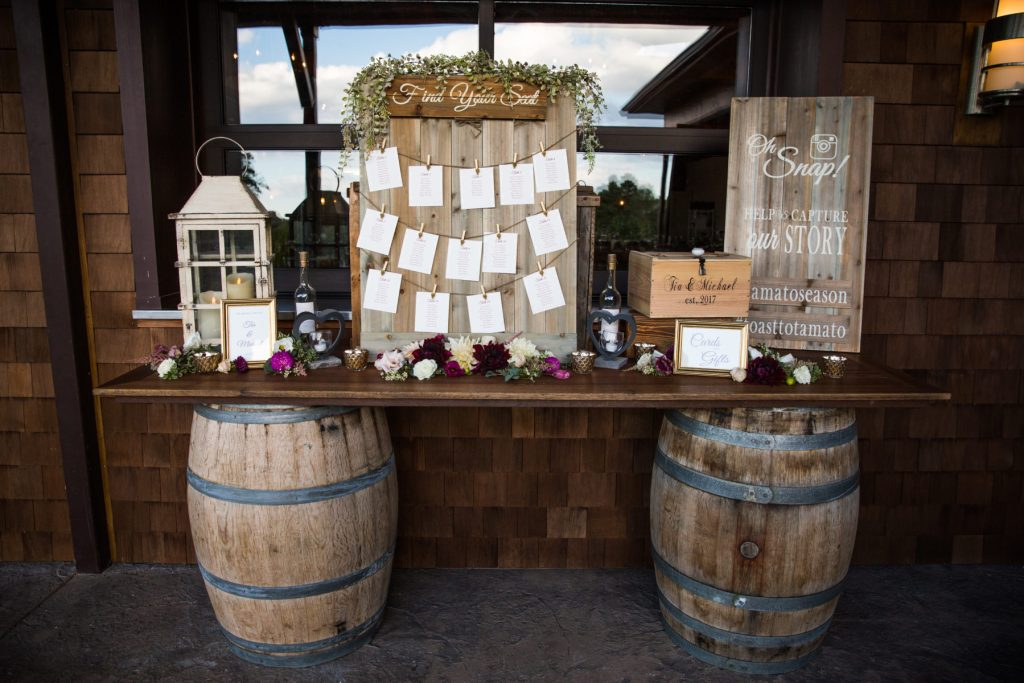 vineyard escort card inspiration