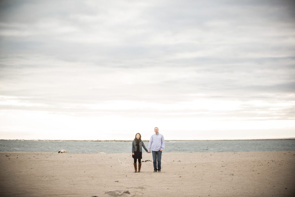 Esther and Paul | Point Judith Light Engagement