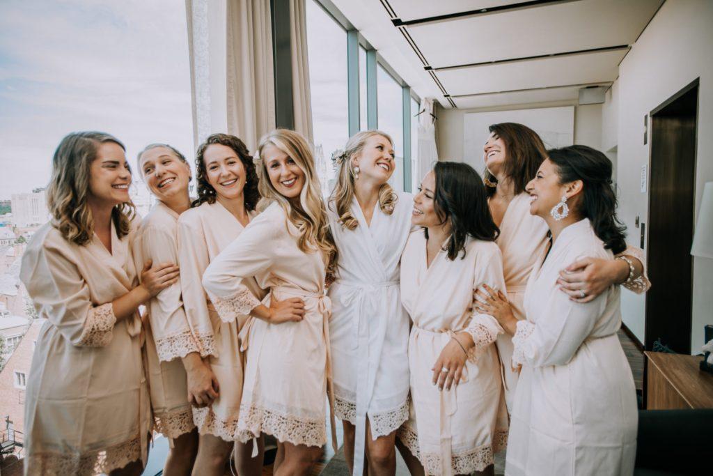 Sasha and Michael | Silly bridesmaids photos