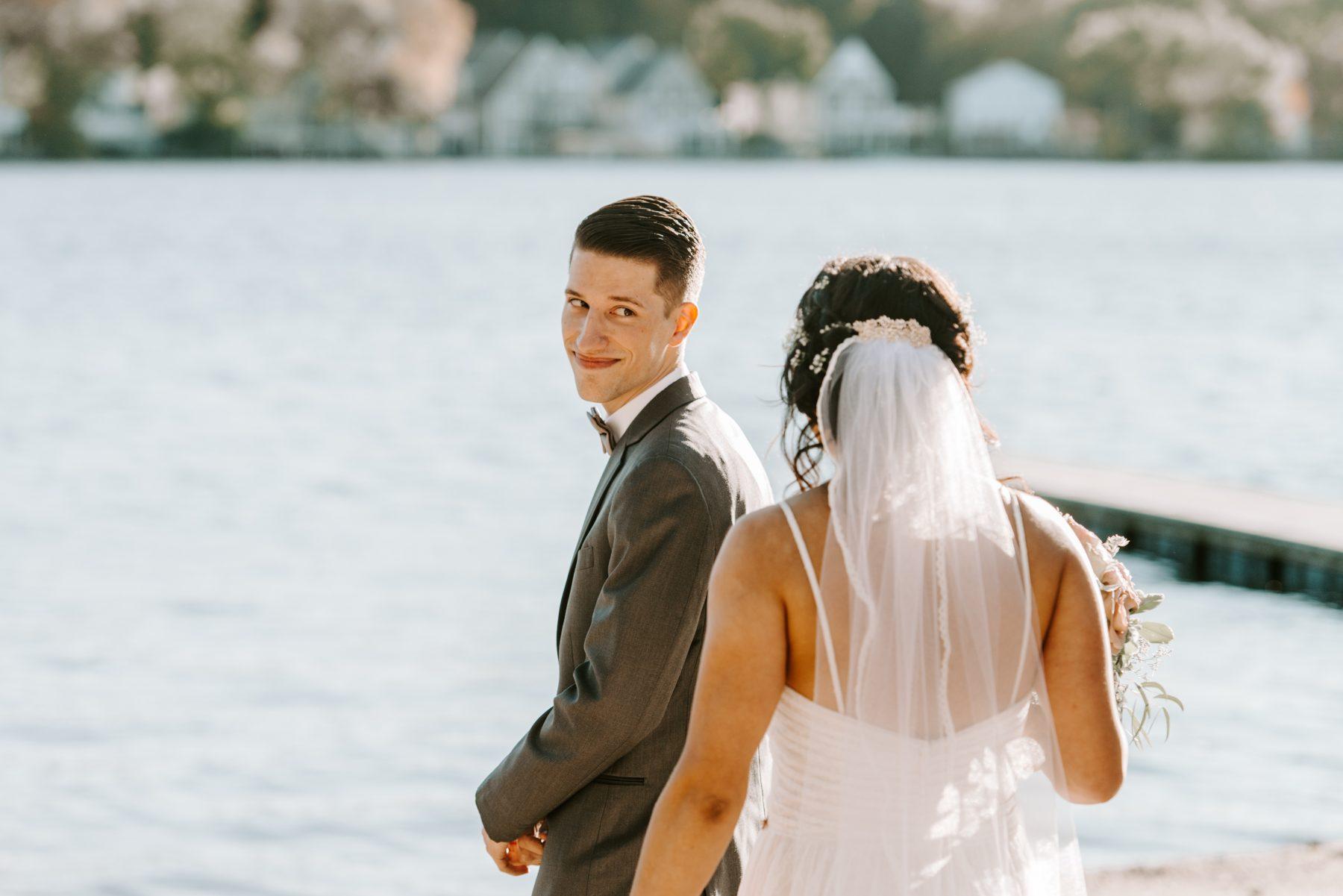 Lake Pearl Wrentham Wedding Olga and Caleb Blueflash Photography 8